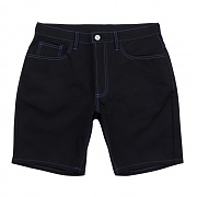 Stich Cotton Shorts - Black