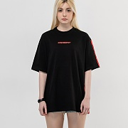 Britch Basic Tape contrast T-Shirts_Black