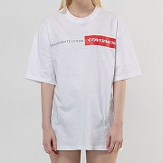 Unique Box Logo Print T-Shirts_White