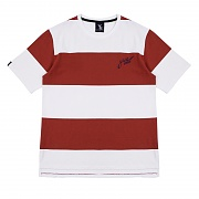 Big Stripe Short Sleeved T-Shirt - Red