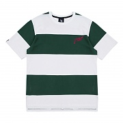 Big Stripe Short Sleeved T-Shirt - Green