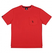 Poket Short Sleeved T-Shirt - Red