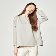LOOSE FIT BOXY T-SHIRT BEIGE