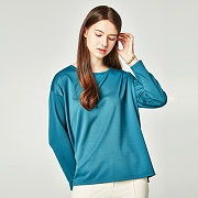 LOOSE FIT BOXY T-SHIRT BLUISH GREEN