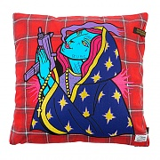 STIGMA GUADALUPE CHECK THROW PILLOW RED