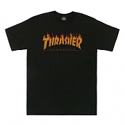 FLAME HALFTONE TEE-BLK