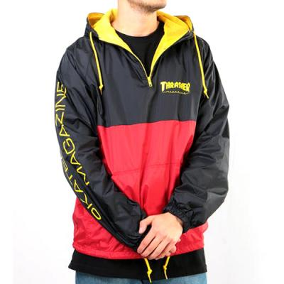 MAG LOGO ANORAK-BLK/RED
