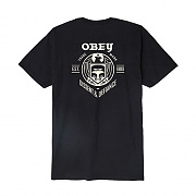(163081780)OBEY DISSENT & DEFIANCE EAGLE TEE-BLK