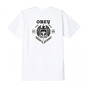 (163081780)OBEY DISSENT & DEFIANCE EAGLE TEE-WHT