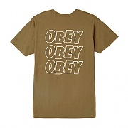 (163081822)OBEY JUMBLED EYES TEE-TAPENADE