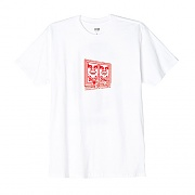(163081792)OBEY PROP & OBEDIENCE TEE-WHT