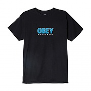 (163081786)OBEY RECORDS 2 TEE-BLK