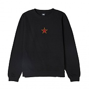 (114981668)OBEY STAR FACE CREW-BLK