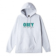 (111731786)OBEY RECORDS 2 HOOD-HEATHER GREY