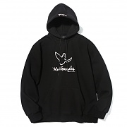 (MG1807HD05) SIGNATURE LOGO HOODIE BLACK