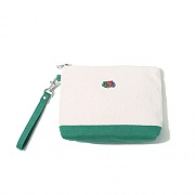 POINT COLOR POUCH GREEN