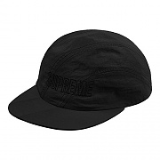 DIAGONAL STRIPE NYLON HAT-BLACK