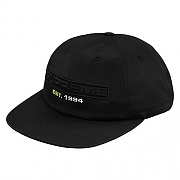 EMBOSSED LOGO 6-PANEL-BLACK