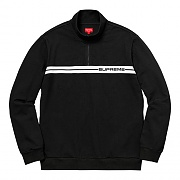 HALF ZIP WARM UP-BLACK