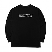[18FW] AUTOGRAPH LOGO LONG SLEEVE T SHIRTS - BLACK/WHITE
