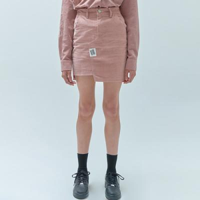 TAG POINT SKIRTS-CORDUROY PINK