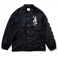 STIGMA PAINT OVERSIZED COACH JACKET BLACK