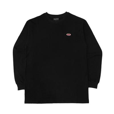 OVAL LONG SLEEVE T SHIRT-BLACK