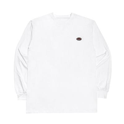 OVAL LONG SLEEVE T SHIRT-WHITE