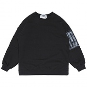 Quilting Patch Sweat-shirts _black