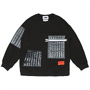 Quilting Pocket Sweat-shirts _black