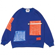 Quilting Pocket Sweat-shirts _blue