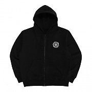 [18FW] OFFICIAL SEALED ZIP UP HOODIE-BLACK/WHITE