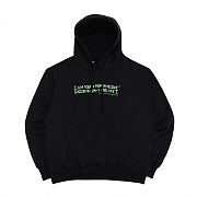 [18FW] AUTOGRAPH LOGO HOODIE-BLACK/GREEN