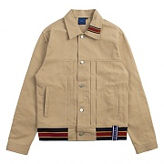Color Tape Trucker Jacket_beige