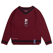 RC V Neck Knit_burgandy