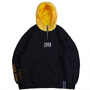 ALL SET Half Zip Up Hoodie_navy