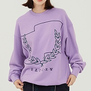 Laurel Crown Sweatshirt_purple