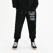 RECORDED JOGGER PANTS_BLACK