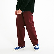 PERFECT WIDE COTTON PANTS_WINE