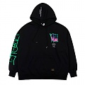 STIGMA GRAFFITI OVERSIZED HEAVY SWEAT HOODIE BLACK