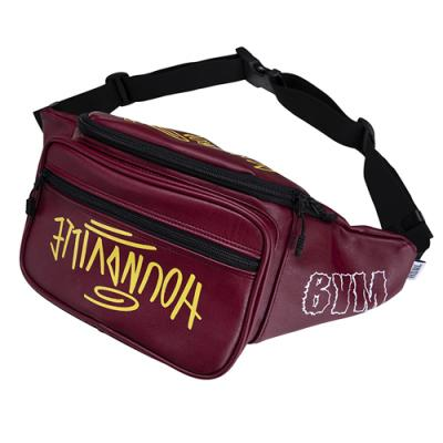 SEOUL artificial leather waist bag wine