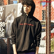 Funny Embroidery HOODIE_BLACK