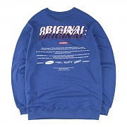 Funny Embroidery SweatShirts_Cobalt Blue