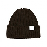 swellmob leather tap beanie -brown-