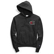 (GF68)RW SUBLIMATED C LOGO PO HOOD-BLACK