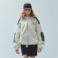 양털 TWO TONE SHEARLING JACKET_ivory