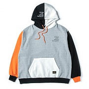 STIGMA MULTIPLE OVERSIZED HEAVY SWEAT HOODIE ORANGE