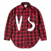 STIGMA VSC OVERSIZED WOOL CHECK SHIRTS RED