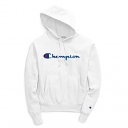(GF68)RW SCRIPT CHAINSTITCH PO HOOD-WHITE