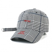 STIGMA BrTW BASEBALL CAP GLEN CHECK